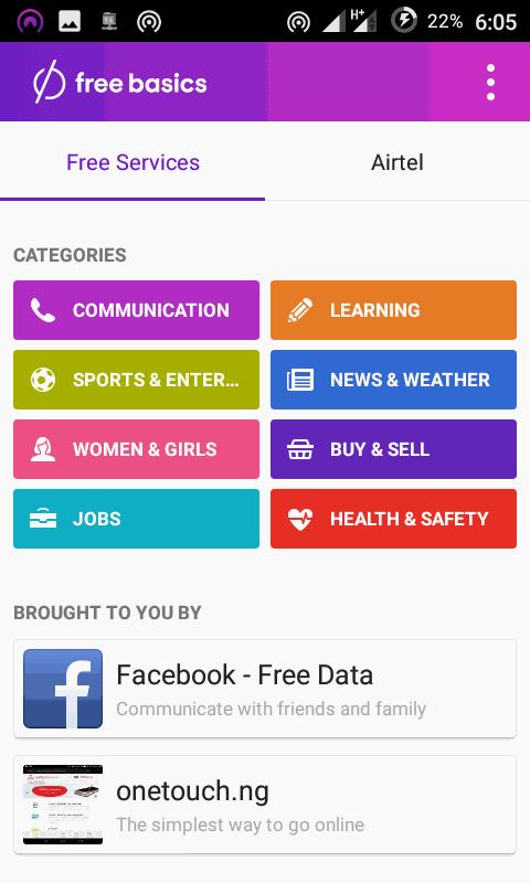 Download Freebasics App for Free Internet on Airtel