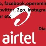 Airtel Nigeria Whatsapp, Operamini, Chrome, Facebook Data plan