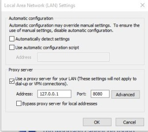 configure proxy server on internet explorer