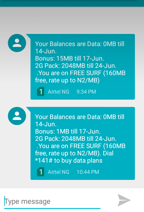 Airtel New Data Plan for 2GB/4GB at 200/500 Naira