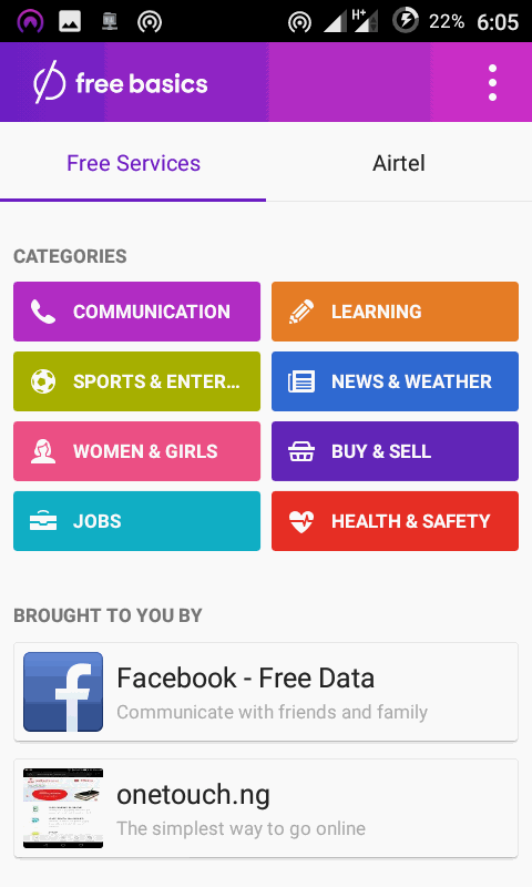 Download Freebasics App for Free Internet on Airtel