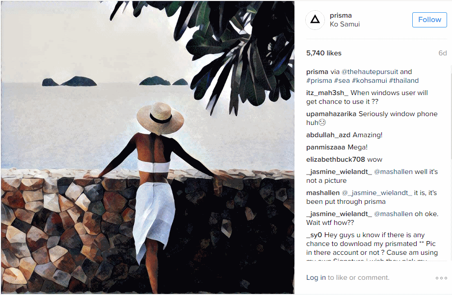 Prisma Turns Photos into Artistic Works of Inspiration