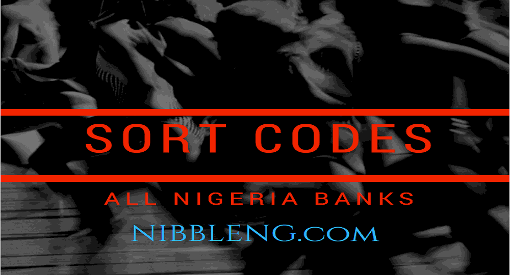 Sort codes for all Nigeria Banks