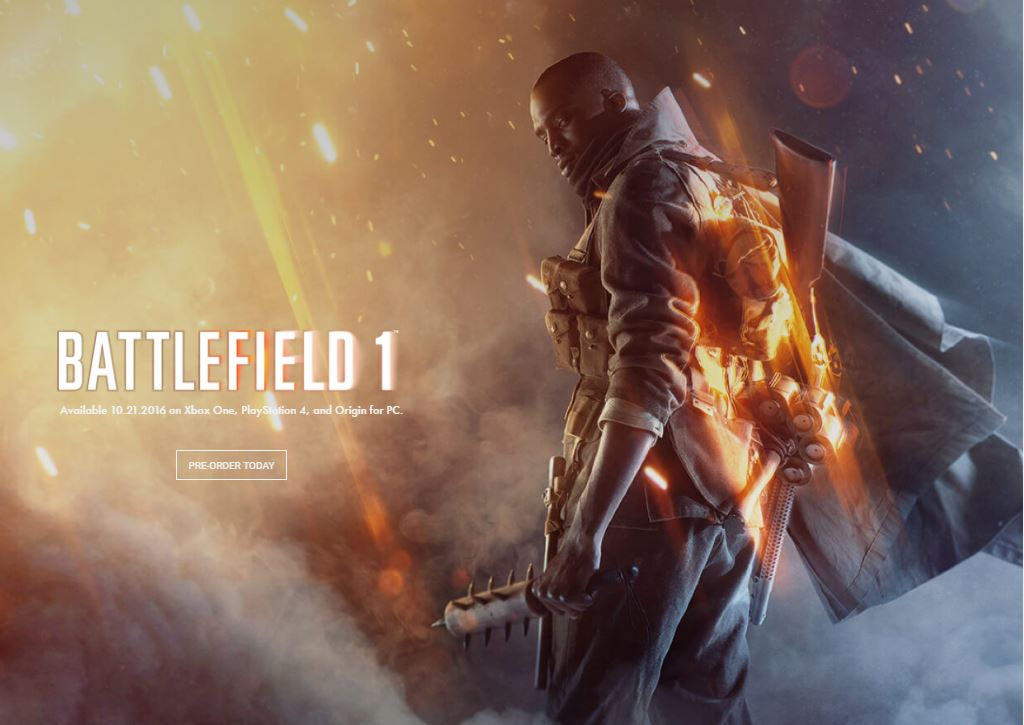 Battle Field 1 takes you back to World War 1