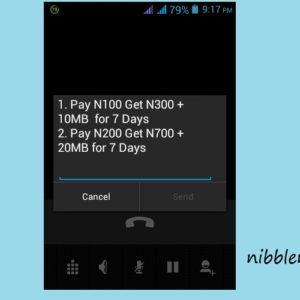 MTN 200 Naira recharge gives you 700 Naira plus 20 MB