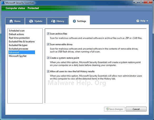 microsoft-security-essential-advanced-settings