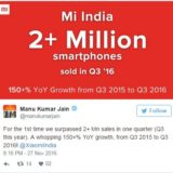 Xiaomi goes viral in India with over 2 million sales and YoY growth of over 150
