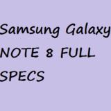 Samsung Galaxy Note 8(2017) Price Full Specification Description Nigeria