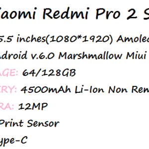 Xiaomi Redmi Pro 2 Specs and Price Archives | nibbleNG