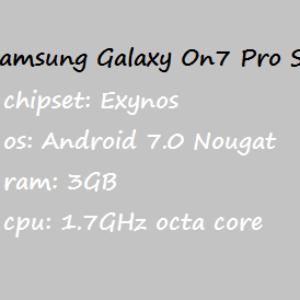 Samsung Galaxy On7 Pro Price Specification Nigeria China India Pakistan US UK UAE