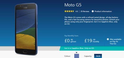 Moto G5 Sapphire Blue Colour Price Specification in UK