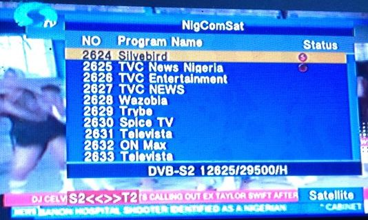 How to track NigcomSat 1R 42.5 Degree East Frequencies TV Channels