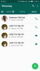 Make calls in whatsapp