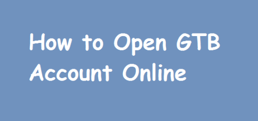 GTBank: Open an Account Number online by yourself