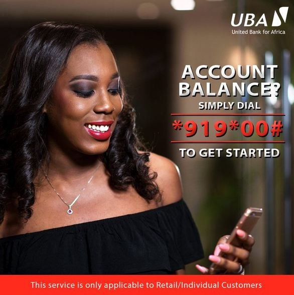 UBA Nigeria: Check Account Balance using your Mobile Phone