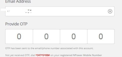 How to Setup NPOWER OTP Login Dashboard Password
