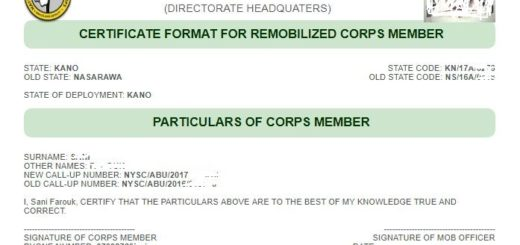 How to Print NYSC Remobilization Certificate Format