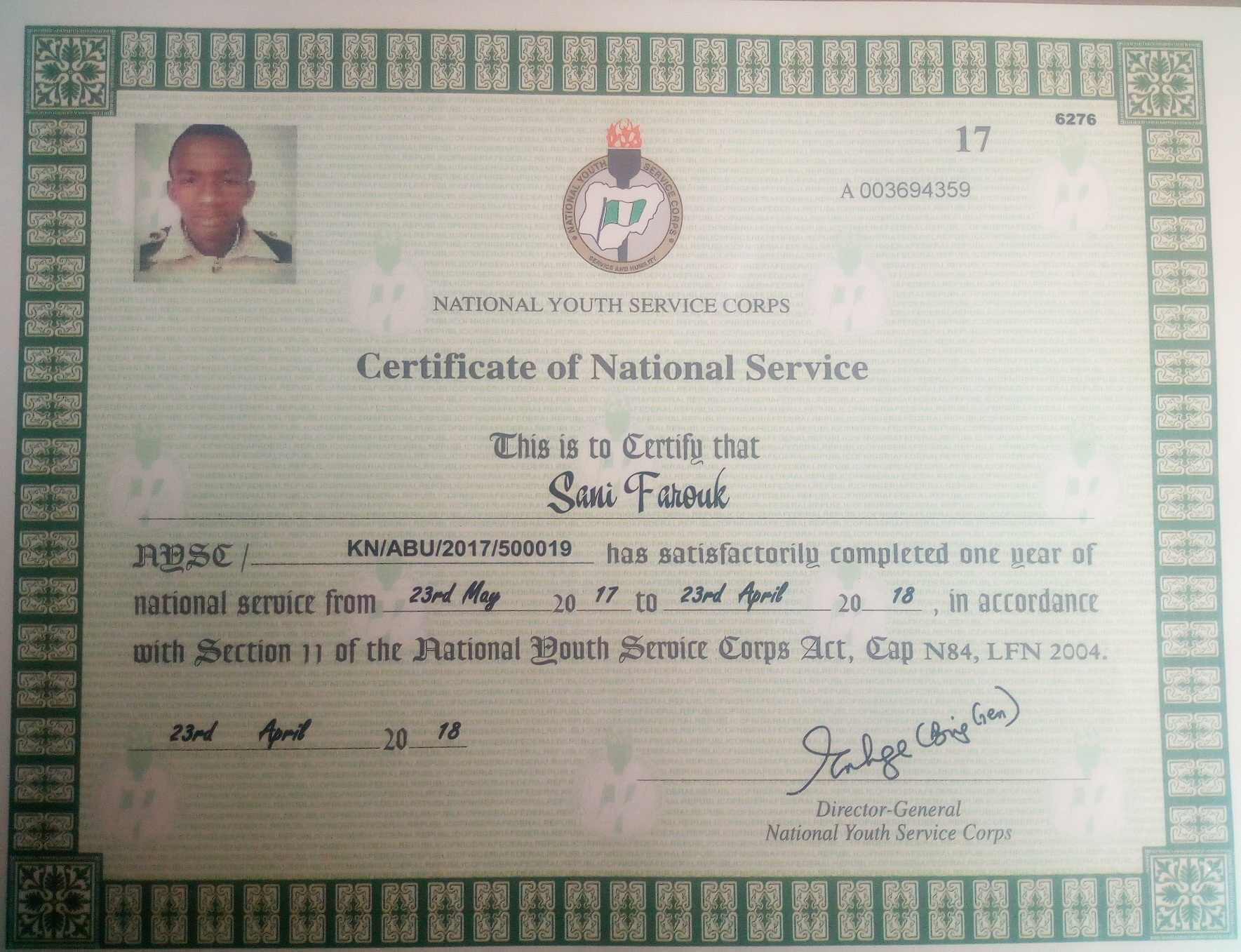 Online NYSC Certificate Verification Procedures