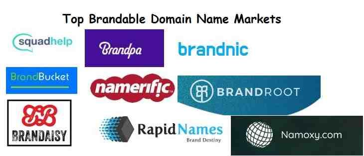 15 Best Brandable Domain Name Market Websites