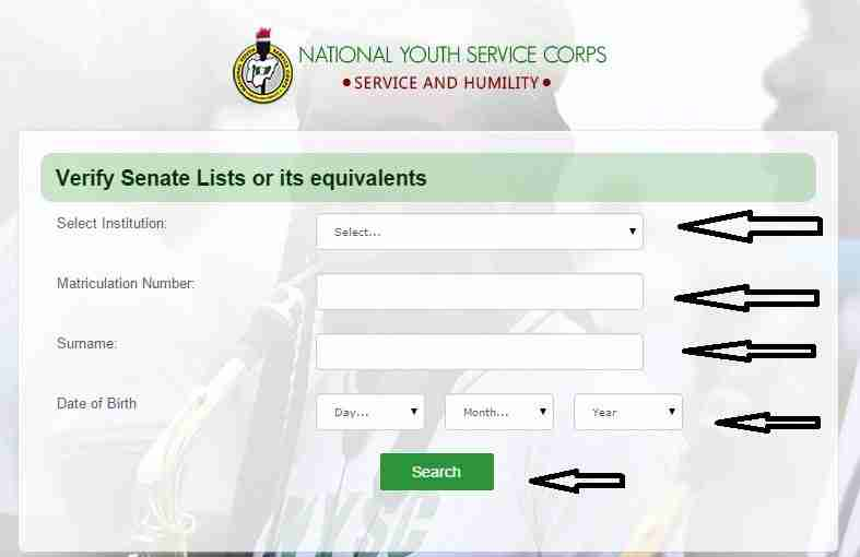 List of Universities for NYSC