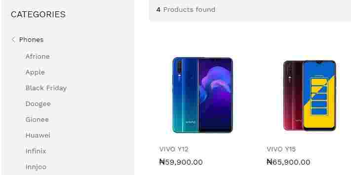 Slot Nigeria Price List