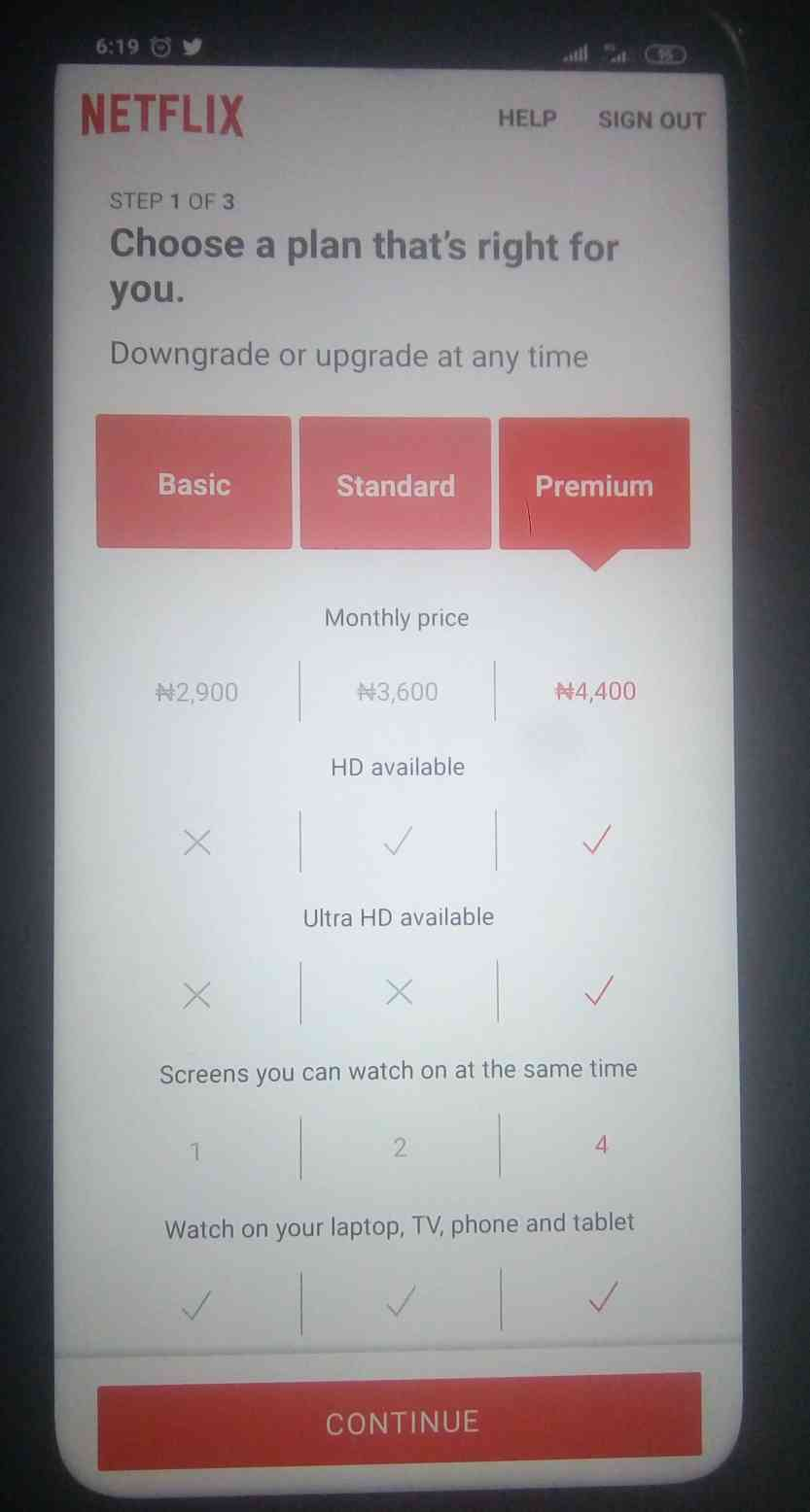 NETFLIX Subscriptions Nigeria