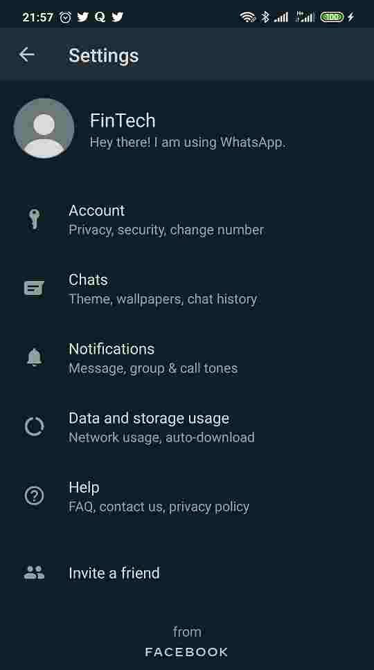 Dark Mode Official Whatsapp